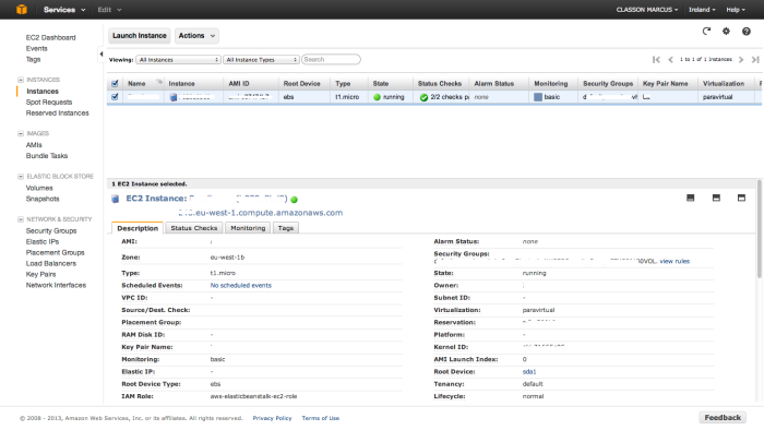 Amazon Web Services EC2